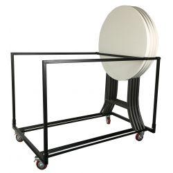 Chariot pour tables hautes