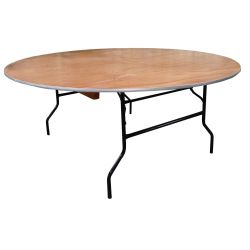 Table plywood ronde 183 cm