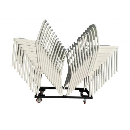 CHARIOT CHAISES EMPILABLES